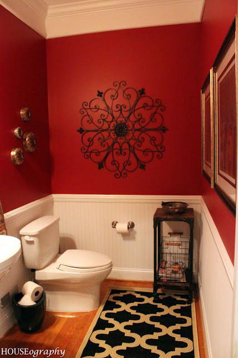 Łazienka w czerwieni – elegancja i ekstrawagancja