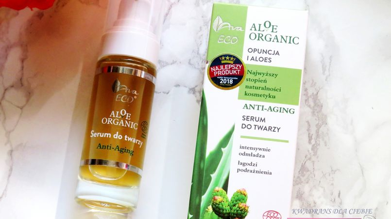 Pielęgnacja przeciwzmarszczkowa - serum anti-aging Ava Aloe Organic Opuncja i Aloes