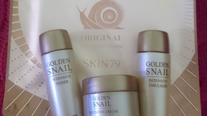 Golden Snail od Skin79: hydrożelowa maseczka, krem, toner i emulsja